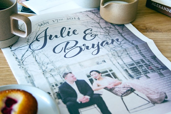Designing a wedding newspaper: