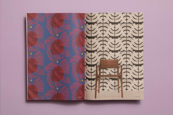 Leila Simon Hayes pattern design lookbook. Printed by Newspaper Club.
