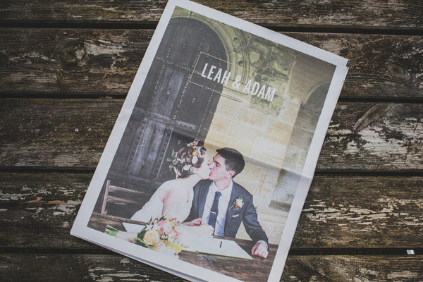 Design a wedding newspaper: how to create your own