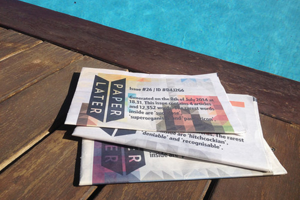 PaperLater by the pool