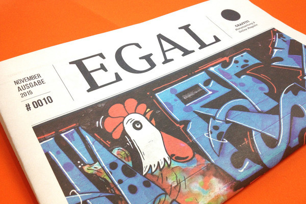 Egal graffiti art newspaper by Alpar Daniel