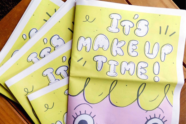 Amy Lesko It's Make Up Time Activity Book Newspaper